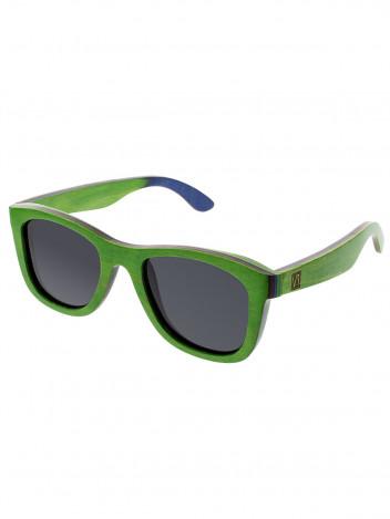 VeyRey Dřevěné polarizační sluneční brýle Metasequoia zelené