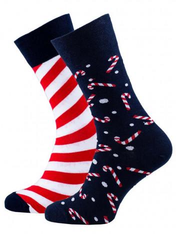 Veselé vánoční ponožky Sweet X-Mass tmavě modré vel. 35-38