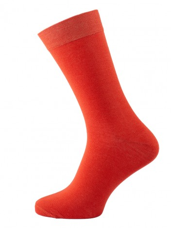 Mens Socks Flame Orange size 39-41