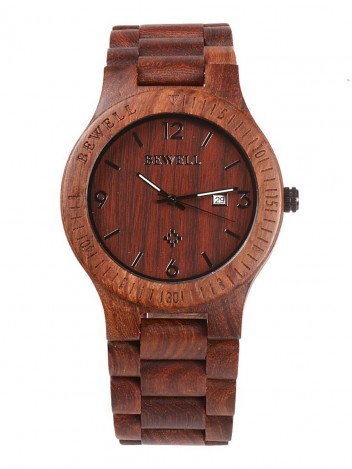 Wooden Watch Senti Brown