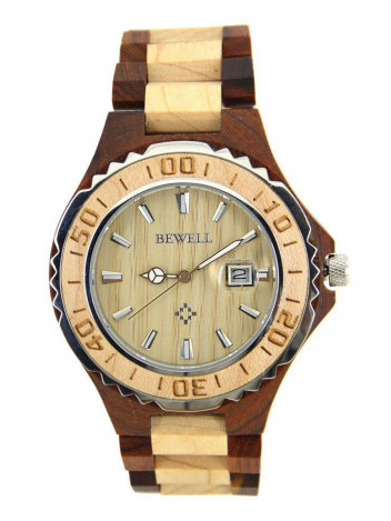 Wooden Watch Bast Brown
