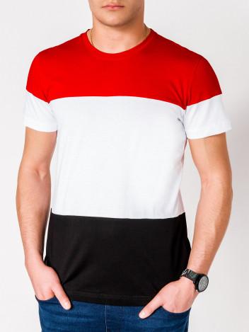 Pánské pruhované tričko Vincent červené