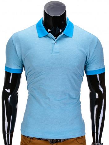 Pánské polo tričko s potiskem Vernon světle modré