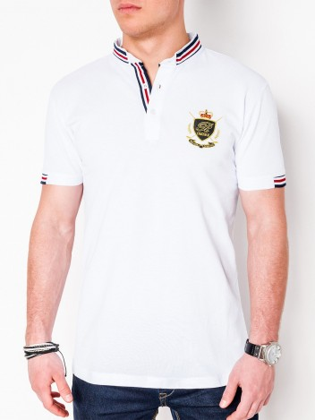 Pánské polo tričko s potiskem Gravity bílé