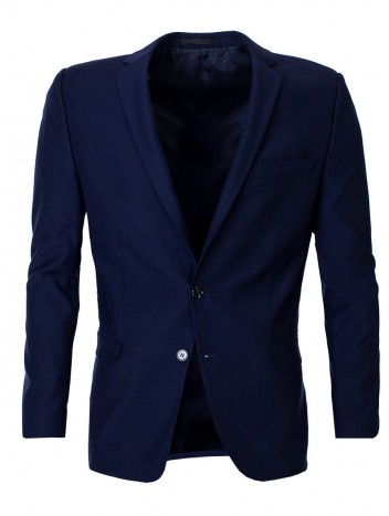 Mens Modern Blazer Stump Black S