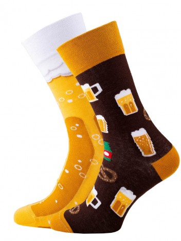 Mens Socks Beer Yellow size 39-42