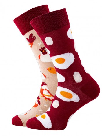 Mens Socks Chicken Red Size 39-42