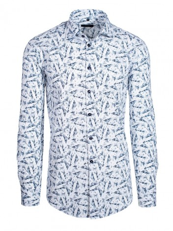 Mens Shirt Tally White size 38