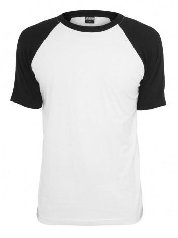 Mens T-Shirt Raglan White-Black S