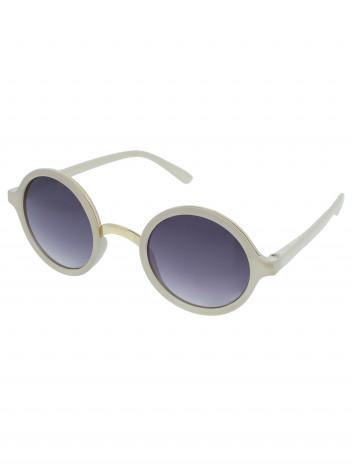A Collection Kulaté sluneční brýle Peeper bílé