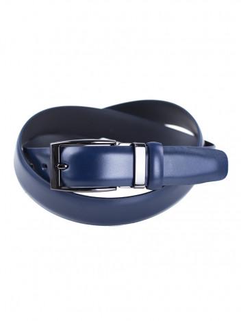 Pánský kožený opasek Satyr tmavě modrý