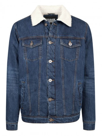 Mens Denim Bomber Jacket Zedd Dark Blue S