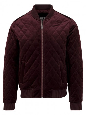 Mens Bomber Jacket Yael Burgundy S