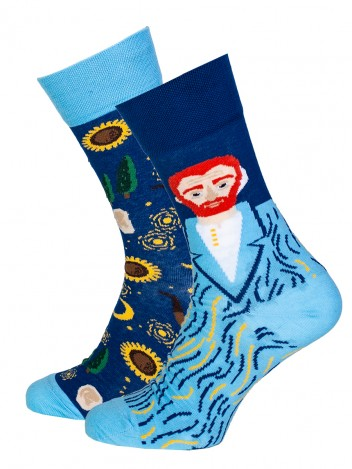 Mens Socks Van Gogh Blue Size 39-42