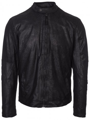 Mens Leatherette Jacket Claudio Black