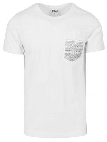 Mens T-shirt Aztec White