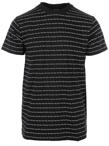 Mens T-Shirt Pow Black