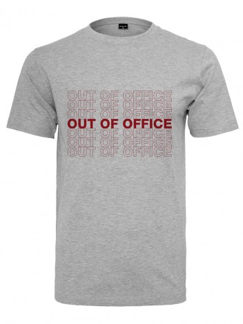 Mens T-Shirt Out Of Office Grey