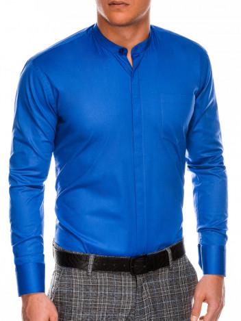 Pánská elegantní košile s dlouhým rukávem Band modrá