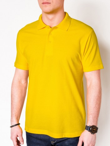 Pánské basic polo tričko Sheer žluté