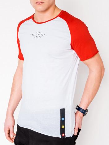 Pánské tričko s potiskem Lancer bílo-červené