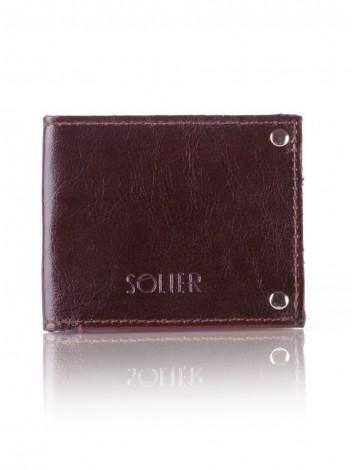 Solier Pouzdro na kreditní karty Marcin hnědé