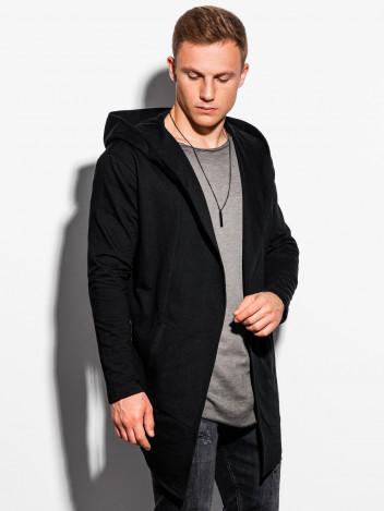 Pánský cardigan s velkou kapucí Corbin černý S