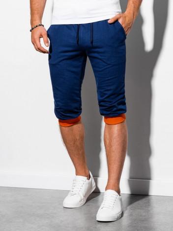Pánské teplákové kraťasy Tracksuit modro-oranžové