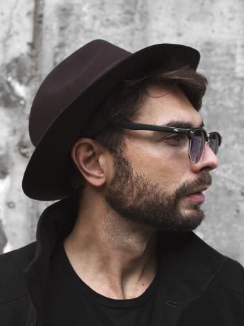 Pánský klobouk Fedora tmavě hnědý