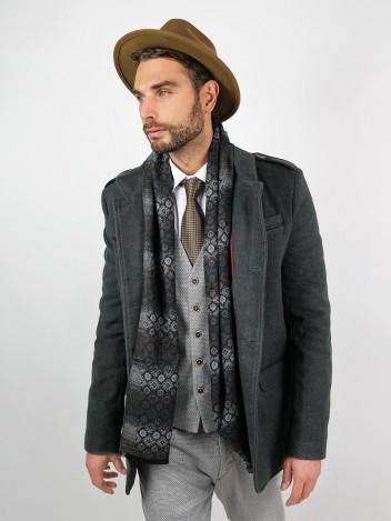 Pánský kabát Augustino tmavě šedý