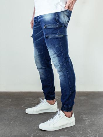 Pánské riflové kalhoty Luka tmavě modré