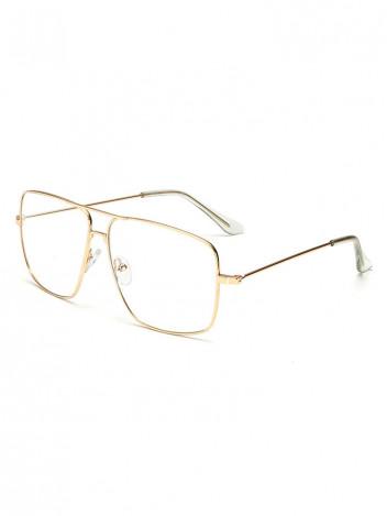 Brýle s čirými skly Miles zlaté