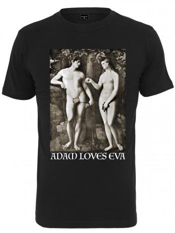 Pánské tričko s potiskem Adam černé