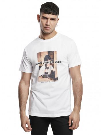 Mister Tee Pánské tričko s potiskem Game Over bílé