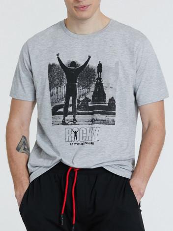 Piazza Italia Pánské tričko Rocky šedé