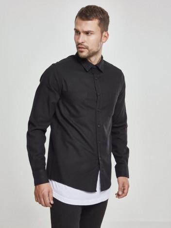 Pánská flanelová košile Ejorn černá