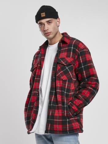 Urban Classics Pánská bunda Teddy červená