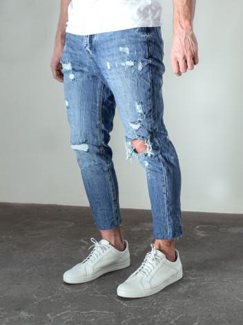 Pánské riflové kalhoty Theo tmavě modré