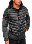 Ombre Clothing Pánská prošívaná zimní bunda Will šedá