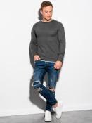 Ombre Clothing Pánský svetr Noman tmavě šedo-pestrobarevný
