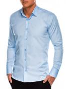 Ombre Clothing Pánská elegantní košile s dlouhým rukávem Supreme světle modrá