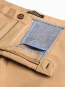 Ombre Clothing Pánské chinos kalhoty Winston světle hnědé