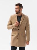 Ombre Clothing Pánský kabát Niko hnědý