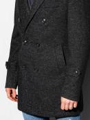 Ombre Clothing Pánský kabát Becker černý