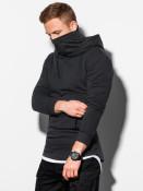 Ombre Clothing Pánská mikina s kapucí Alexei černá
