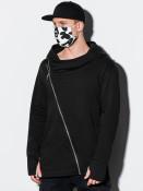 Ombre Clothing Bavlněná rouška černo-bílá