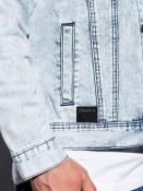 Ombre Clothing Pánská riflová bunda Goodhue světle modrá