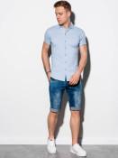 Ombre Clothing Pánská košile Coyne modrá