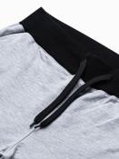 Ombre Clothing Pánské teplákové kraťasy Tracksuit šedo-černé