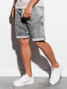 Ombre Clothing Pánské kraťasy Stray šedé